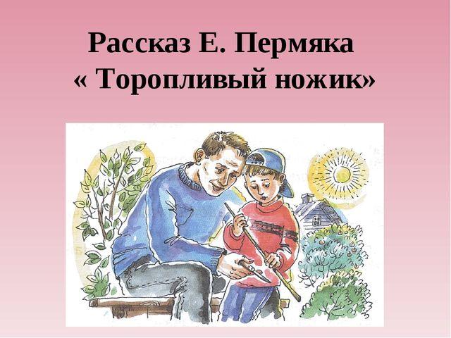 Рассказ Е. Пермяка « Торопливый ножик»