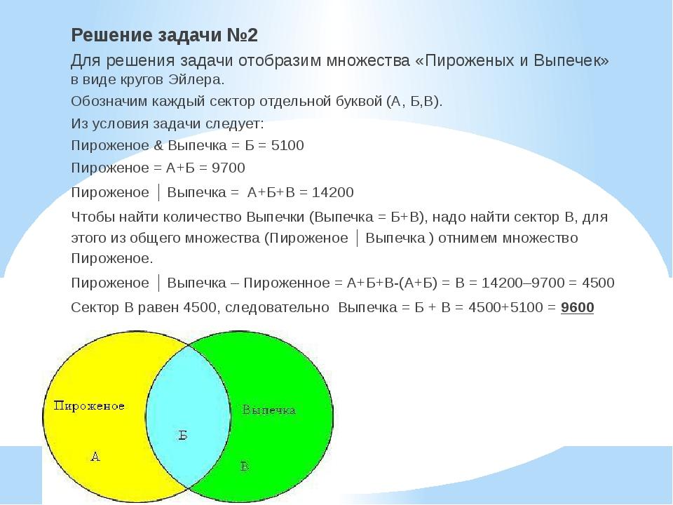 Решение задач на множества 5 класс задачи с решениям финансы организации