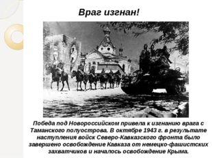 Победа под Новороссийском привела к изгнанию врага с Таманского полуострова.