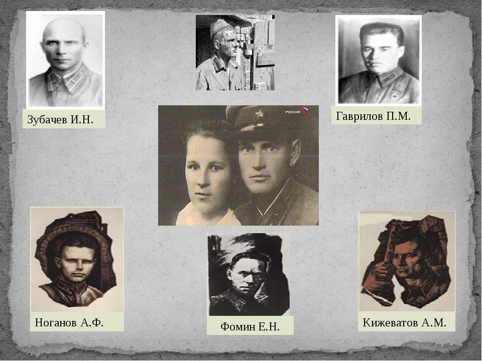 Фомин Е.Н. Гаврилов П.М. Зубачев И.Н. Ноганов А.Ф. Кижеватов А.М.