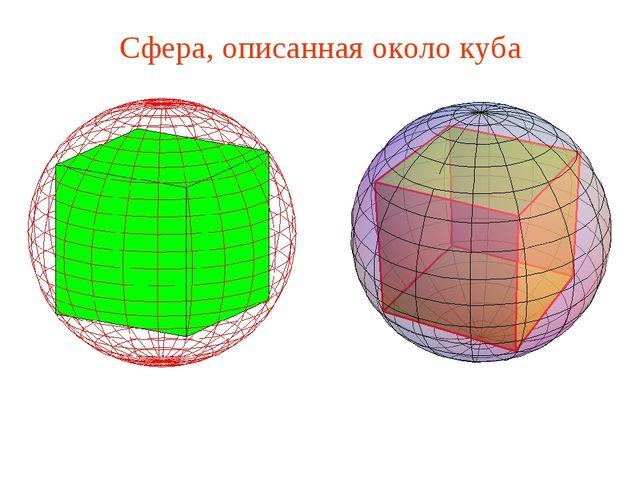 Сфера, описанная около куба