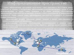 Информационное пространство Единое информационное пространство представляет с