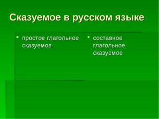 Сказуемое в русском языке простое глагольное сказуемое составное глагольное с