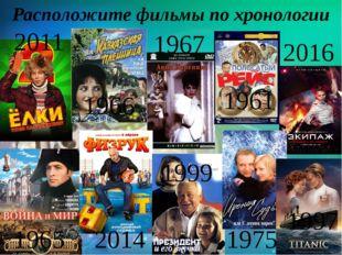 Расположите фильмы по хронологии 2011 1966 1967 1965 2016 1961 1997 1975 1999
