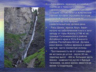 Река Шинок, название которой в переводе с тюркского означает «неприступная»,