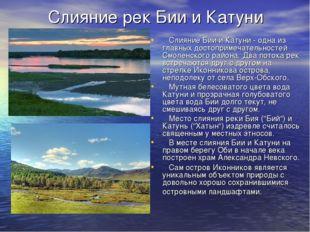 Слияние рек Бии и Катуни Слияние Бии и Катуни - одна из главных достопримечат