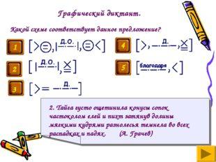 Графический диктант. Какой схеме соответствует данное предложение? 2. Тайга г