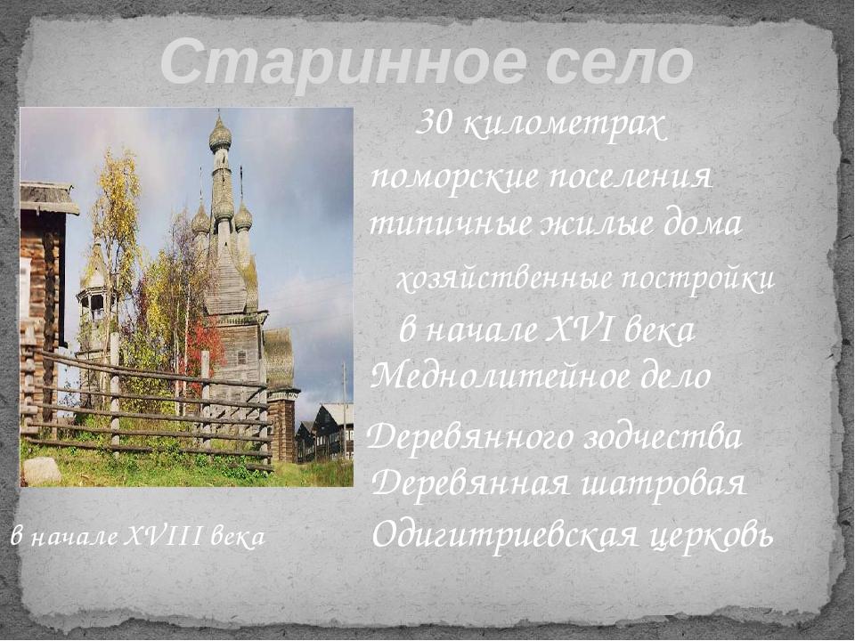 Старинное село Кимжа 30 километрах поморские поселения типичные жилые дома х...