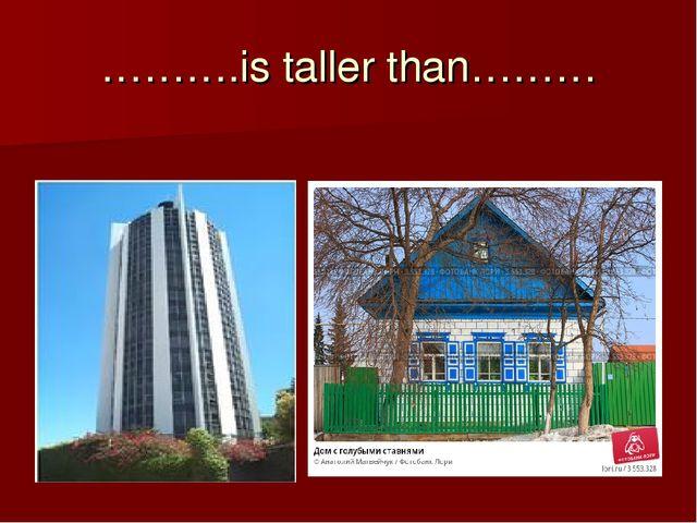 ……….is taller than………