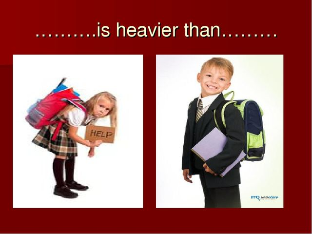 ……….is heavier than………