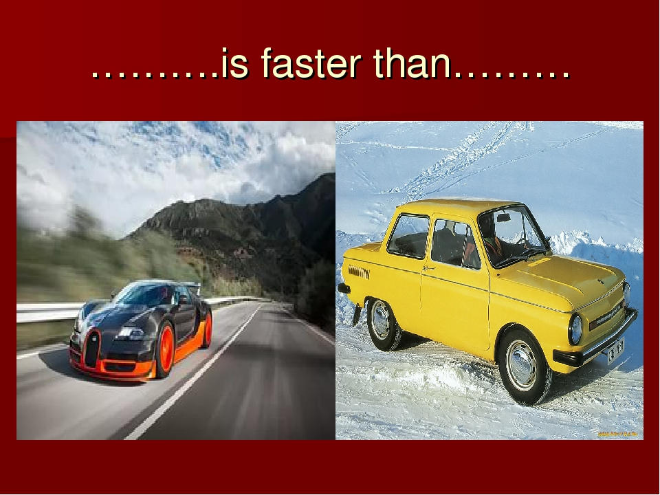 ……….is faster than………