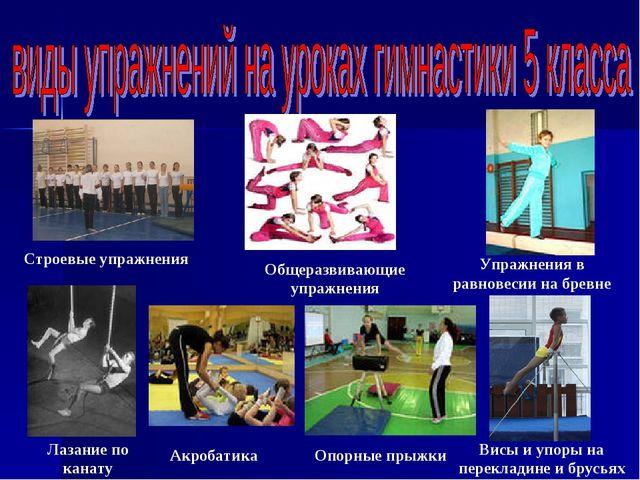 Строевые упражнения Общеразвивающие упражнения Лазание по канату Акробатика В...