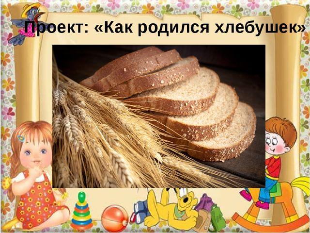 Проект: «Как родился хлебушек»
