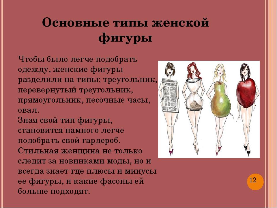 Чтобы было легче подобрать одежду, женские фигуры разделили на типы: треугол...