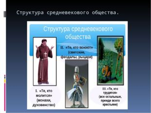 Структура средневекового общества.