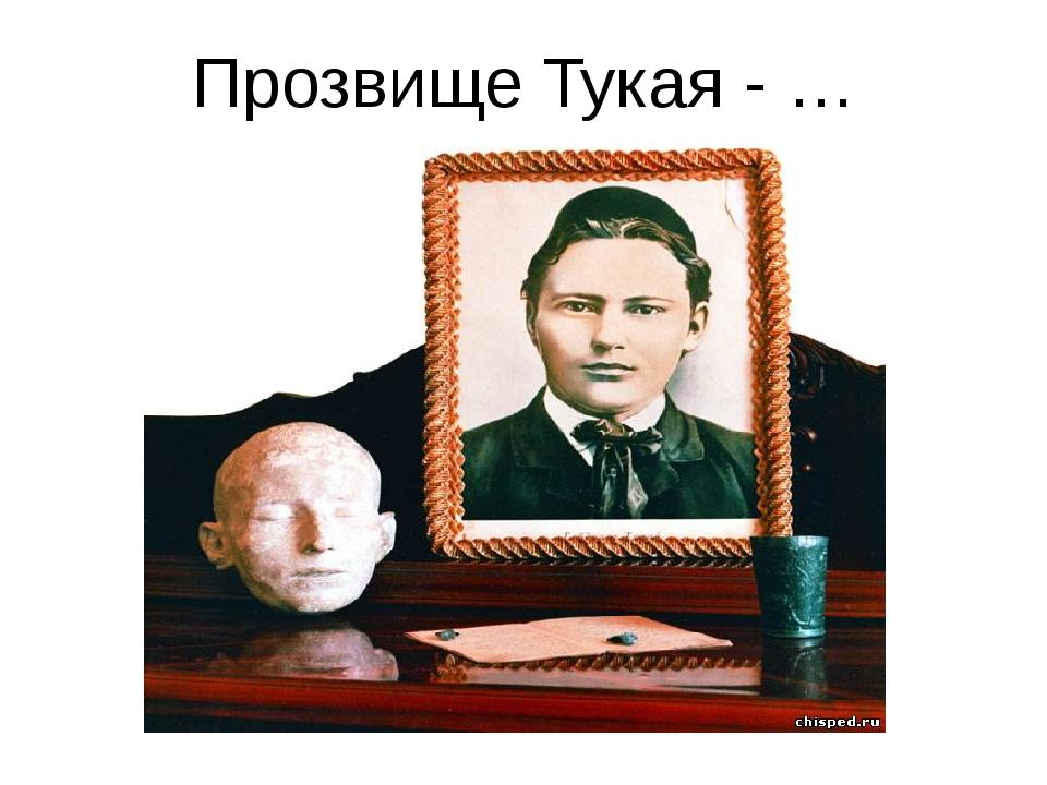 Прозвище Тукая - …