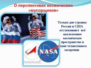 О перспективах космических «мусорщиков» Только две страны: Россия и США отсле