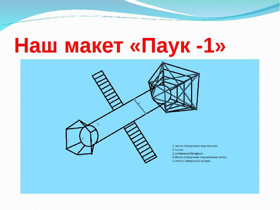 Наш макет «Паук -1»