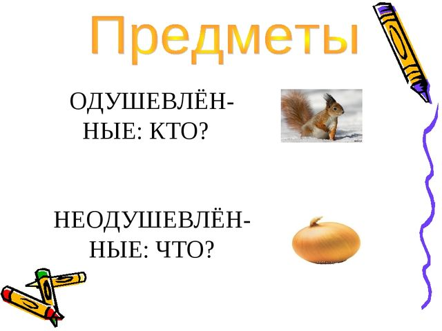 ОДУШЕВЛЁН- НЫЕ: КТО? НЕОДУШЕВЛЁН- НЫЕ: ЧТО?