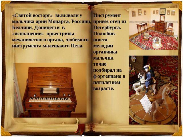 «Святой восторг» вызывали у мальчика арии Моцарта, Россини, Беллини, Доницетт...