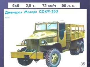* 6х6 2,5 т. 72 км/ч 90 л. с. 35 1