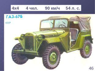 * 4х4 4 чел. 90 км/ч 54 л. с. 46 1