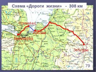 * Схема «Дороги жизни» - 308 км 79 1