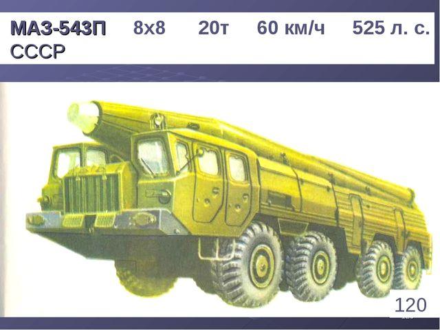 * МАЗ-543П 8х8 20т 60 км/ч 525 л. с. СССР 120 1
