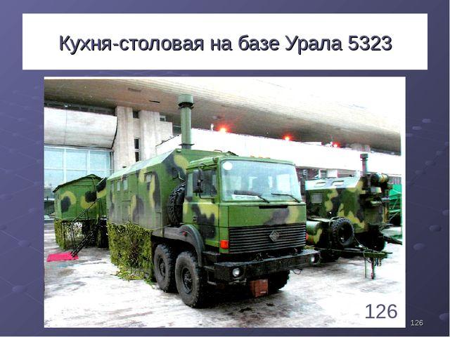 * Кухня-столовая на базе Урала 5323 126 1