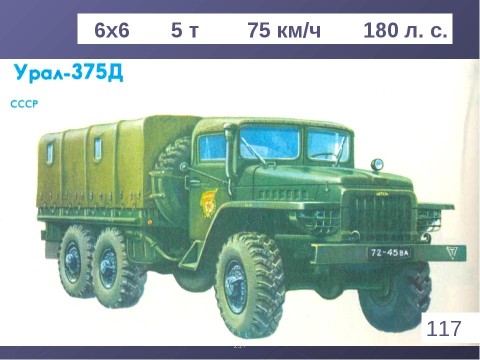 * 6х6 5 т 75 км/ч 180 л. с. 117 1