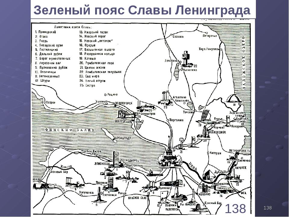 * 138 Зеленый пояс Славы Ленинграда 1