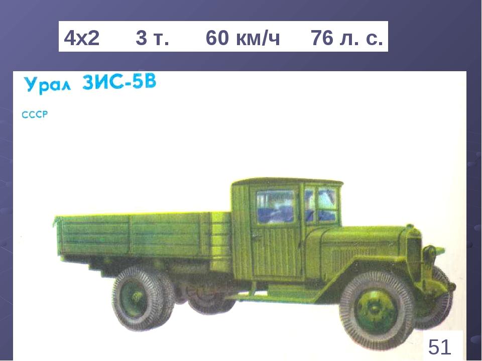 * 4х2 3 т. 60 км/ч 76 л. с. 51 1
