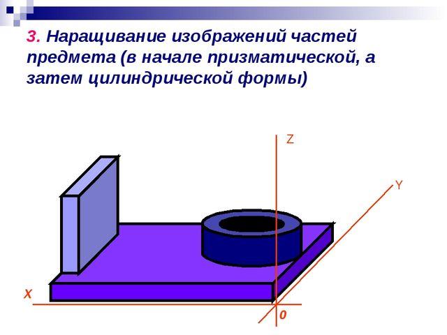 3. Наращивание изображений частей предмета (в начале призматической, а затем...