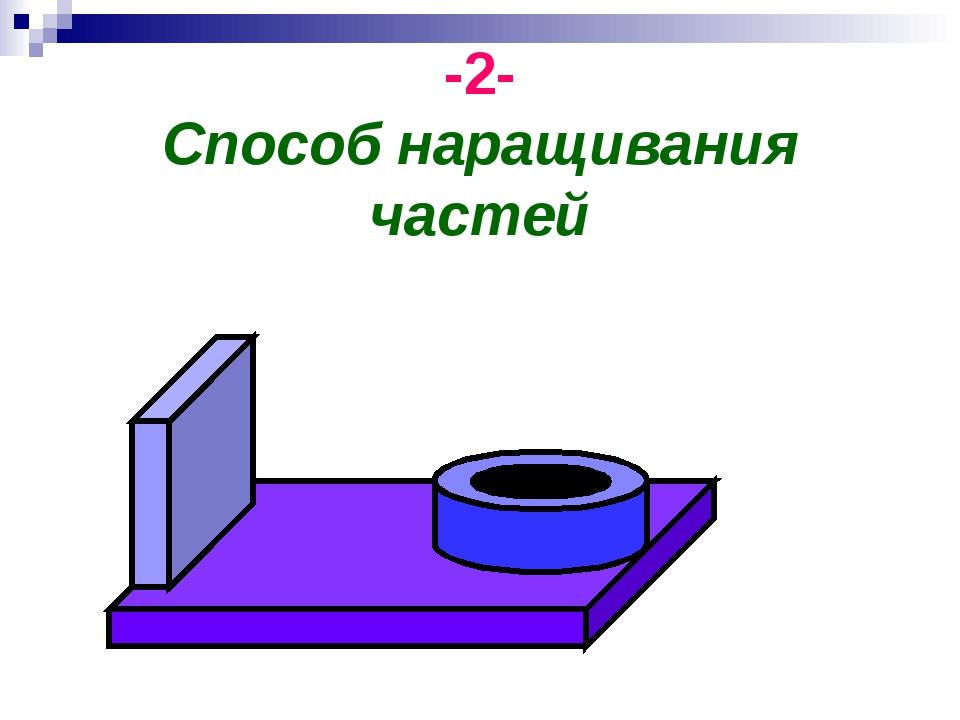 -2- Способ наращивания частей