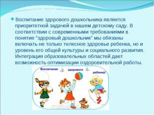 Воспитание здорового дошкольника является приоритетной задачей в нашем детско