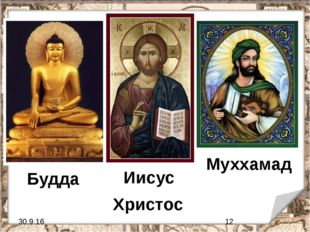 Будда Иисус Христос Муххамад