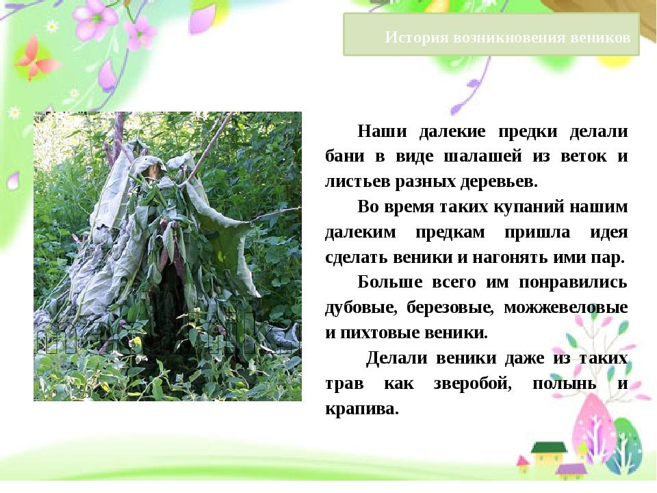 Наши далекие предки делали бани в виде шалашей из веток и листьев разных дер...