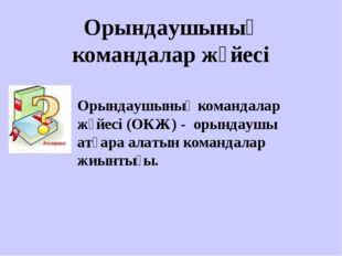 Орындаушының командалар жүйесі Орындаушының командалар жүйесі (ОКЖ) - орындау