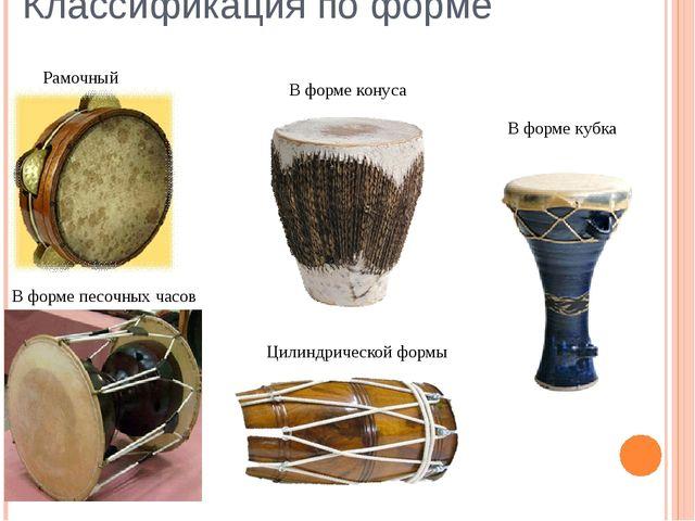 Классификация по форме В форме кубка В форме конуса Цилиндрической формы Рамо...