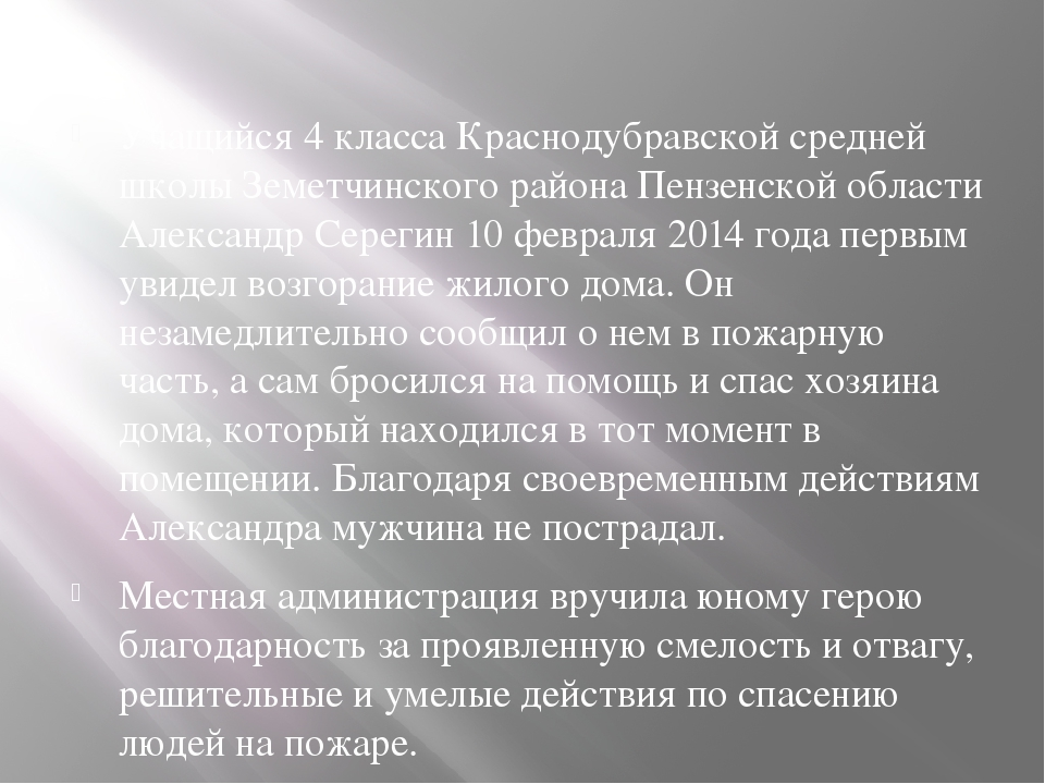 Учащийся 4 класса Краснодубравской средней школы Земетчинского района Пензен...