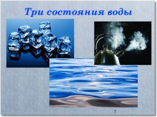 Три состояния воды *