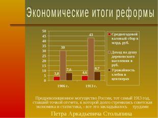Предреволюционное могущество России, тот самый 1913 год, ставший точкой отсче