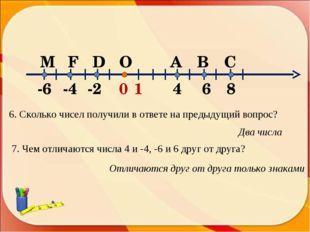 6. Сколько чисел получили в ответе на предыдущий вопрос? Два числа 7. Чем отл