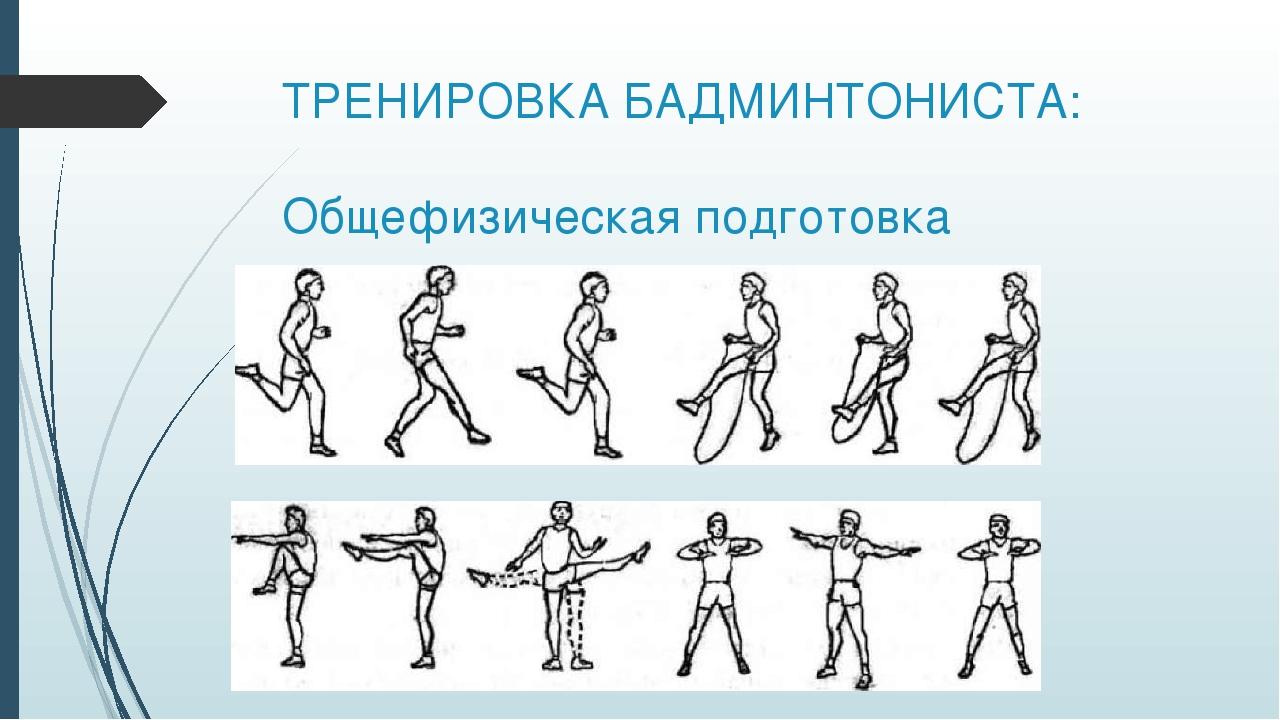 ТРЕНИРОВКА БАДМИНТОНИСТА: Общефизическая подготовка