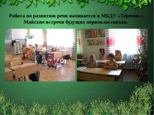 Работа по развитию речи начинается в МБДУ «Теремок». Майские встречи будущих