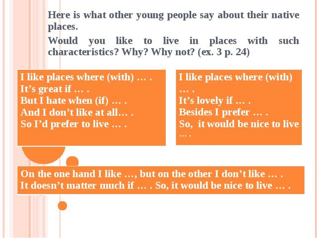 Here is what other young people say about their native places. Would you like...