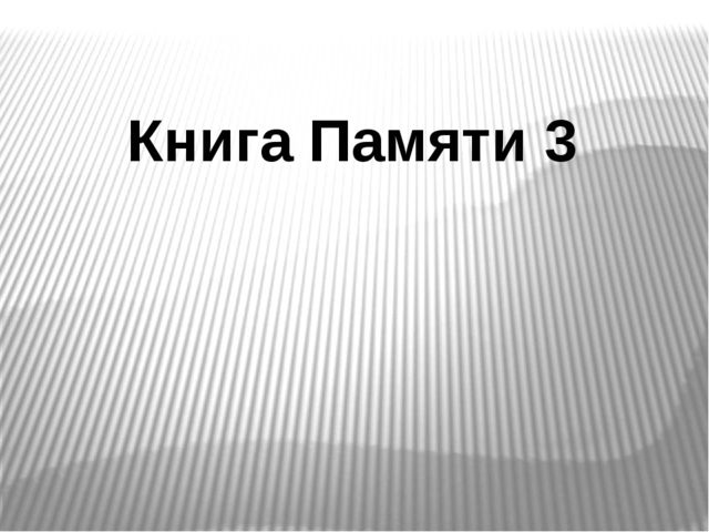 Книга Памяти 3