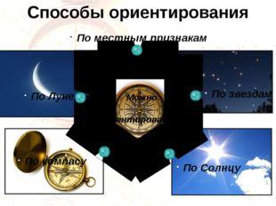 Способы ориентирования Можно Ориентироваться По местным признакам По звездам