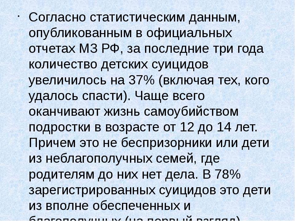 Согласно статистическим данным, опубликованным в официальных отчетах МЗ РФ, з...