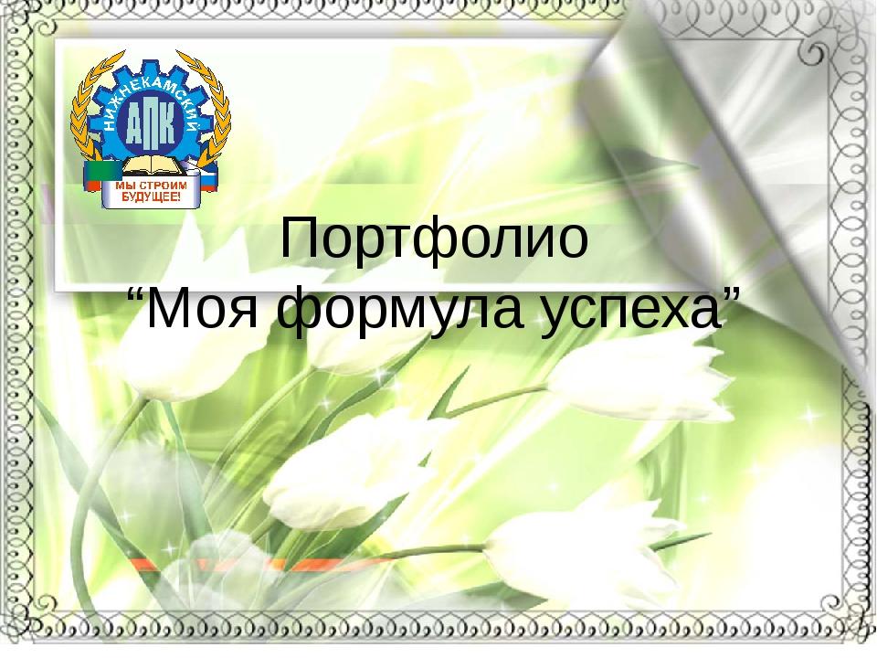 "Портфолио ""Моя формула успеха"""